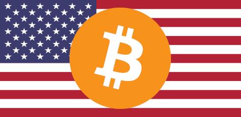 USA Bitcoin on Flag